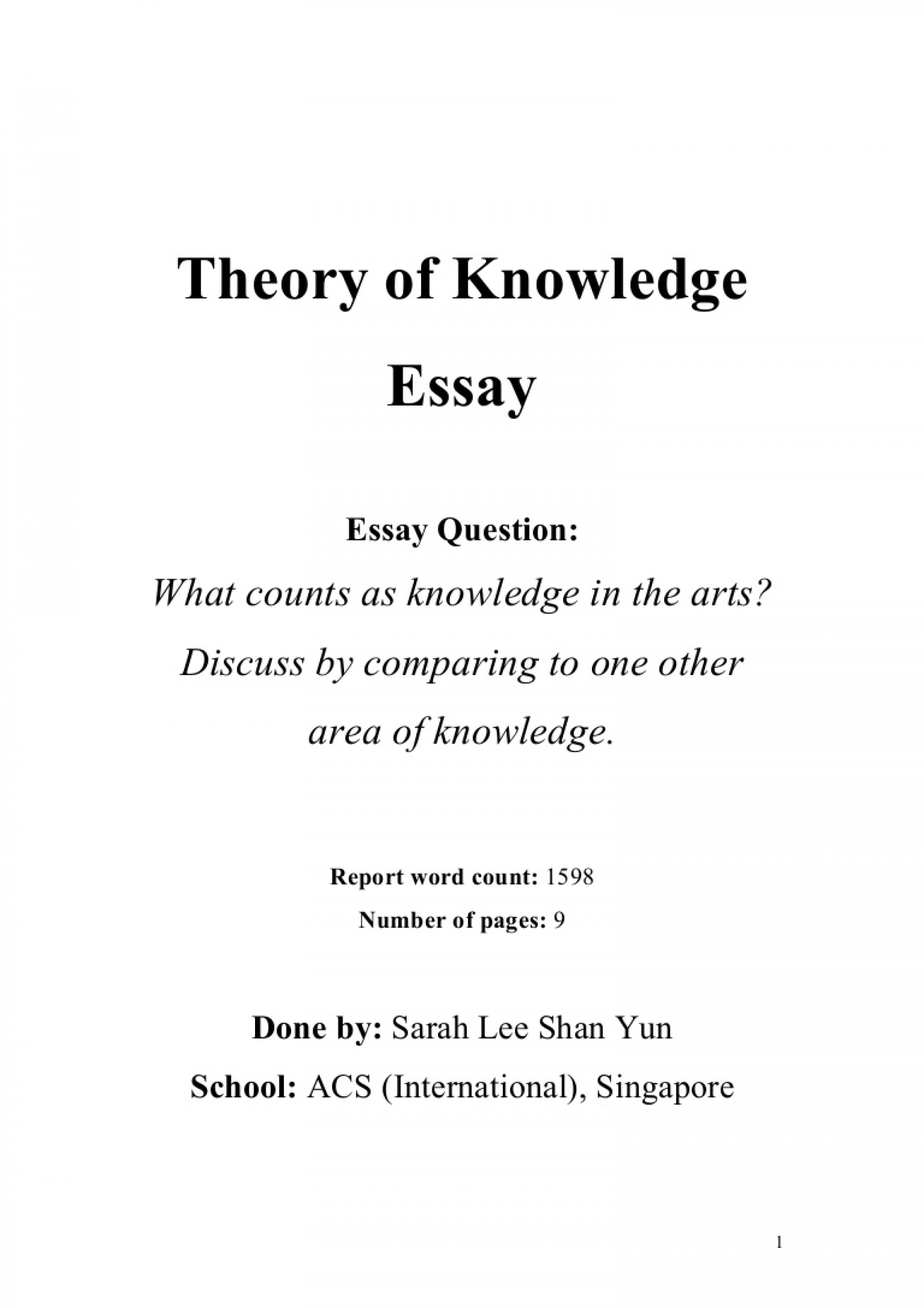 001 Tok Theoryofknowledgeessay Phpapp01 Thumbnail Essay Impressive Example 2018 2016 1920