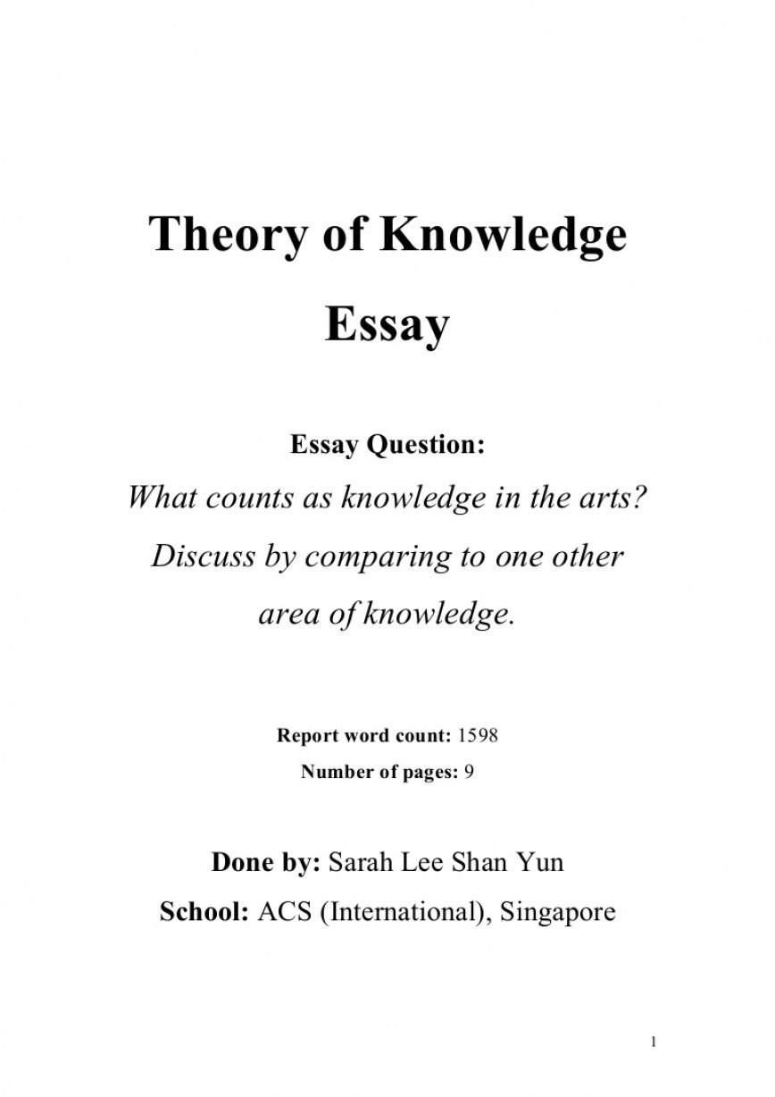 001 Tok Theoryofknowledgeessay Phpapp01 Thumbnail Essay Impressive Example 2018 2019 2016