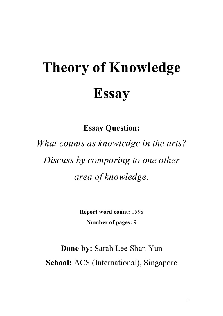 001 Tok Theoryofknowledgeessay Phpapp01 Thumbnail Essay Impressive Example 2018 2016 Full