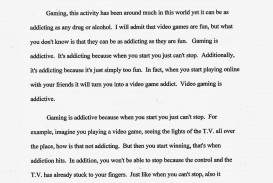 001 Violence In Video Games Essay Example Striking Title Game Argumentative Outline Free