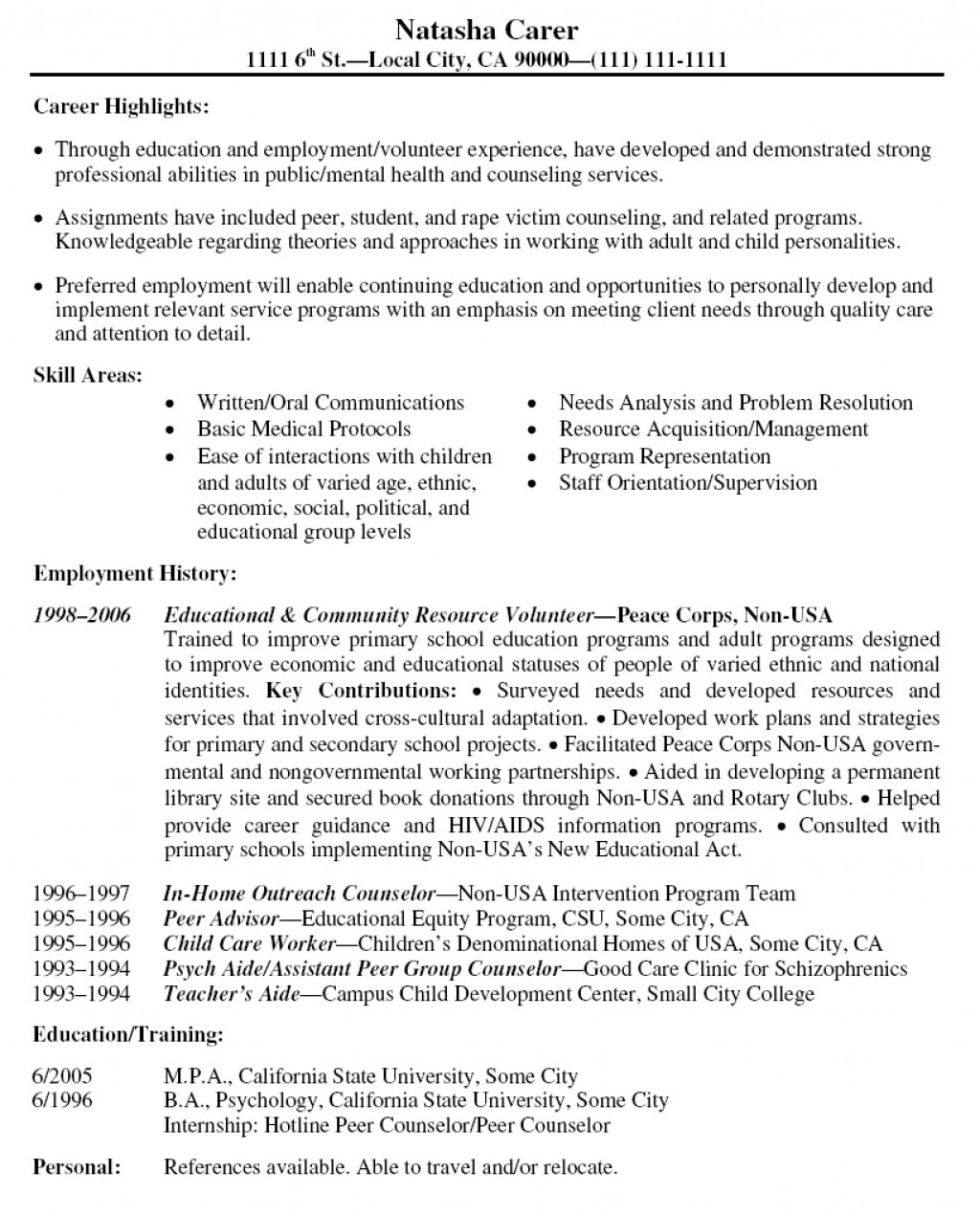 001 Volunteer Experience Essay Resume Example Latest Format L Surprising Hospital Examples Nursing Home Large