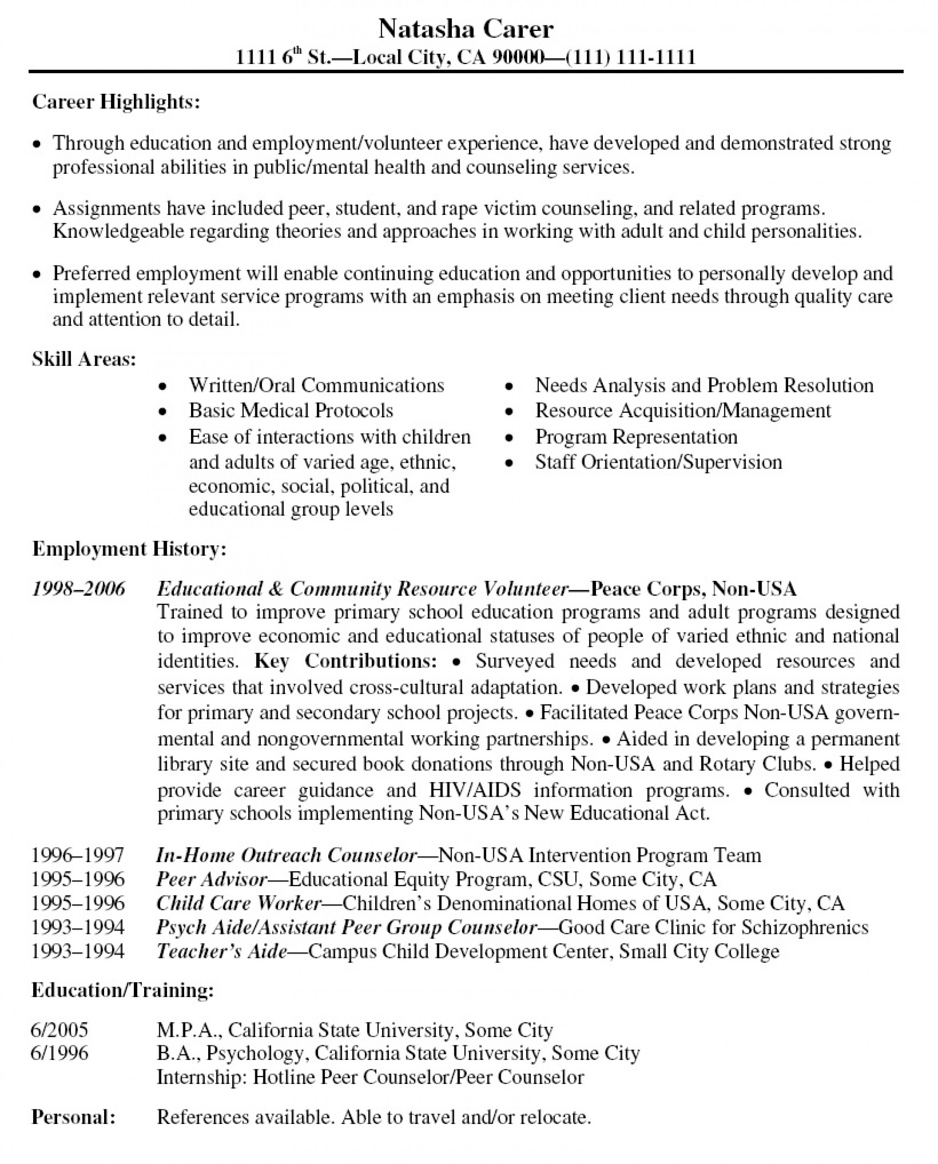 001 Volunteer Experience Essay Resume Example Latest Format L Surprising Hospital Examples Nursing Home 1920