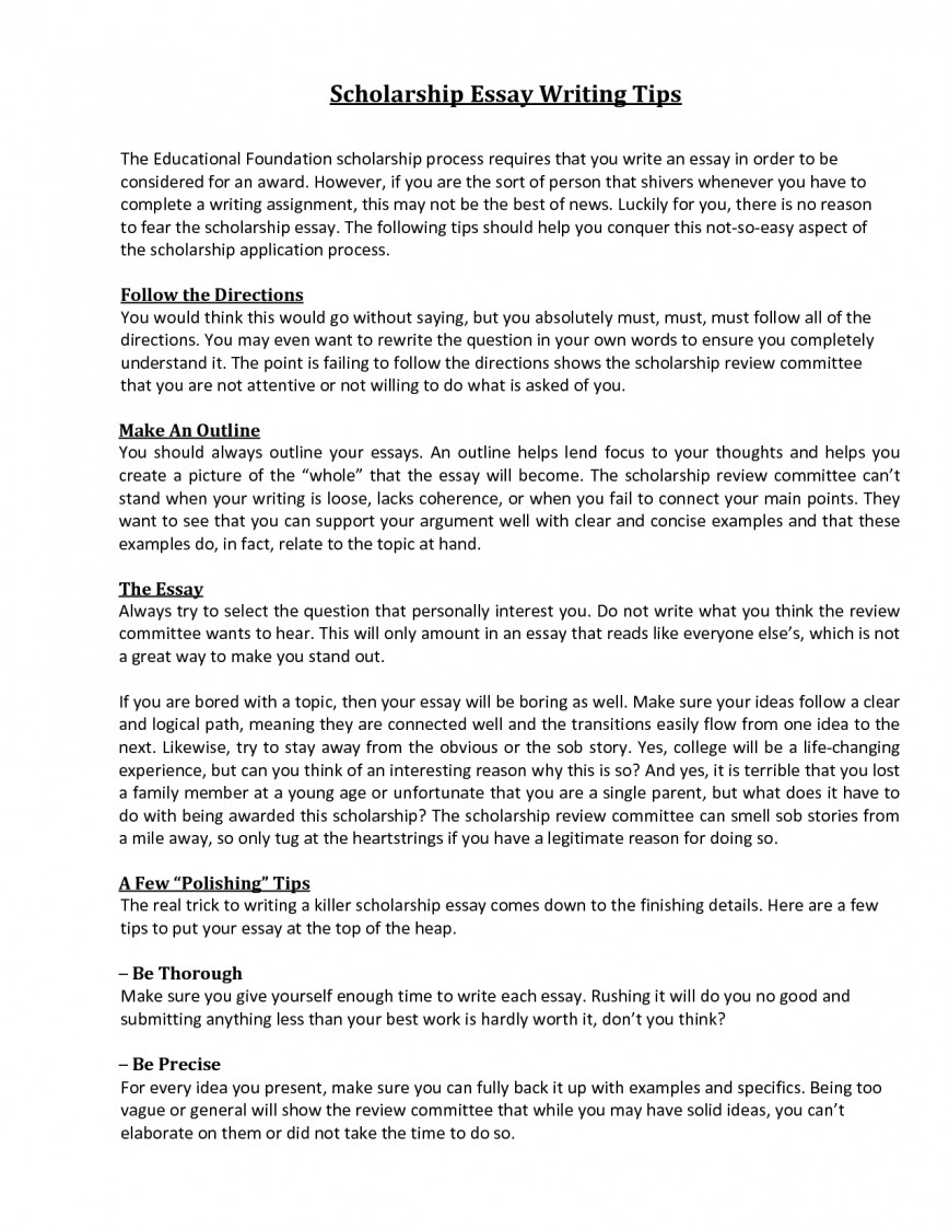 001 What To Write For Scholarship Essay Example Awesome A How Introduction That Stands Out About Your Career Goals 868