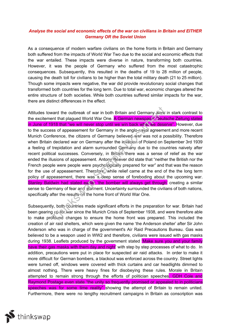 001 Ww2 Essay 55165 Civilians At War Essay31 Beautiful Causes Of Conclusion Titles Topics Full