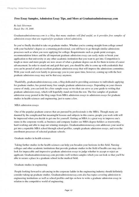 001 Yhn3ns0535 Free Sample Essay For Graduate School Admission Formidable Pdf 480