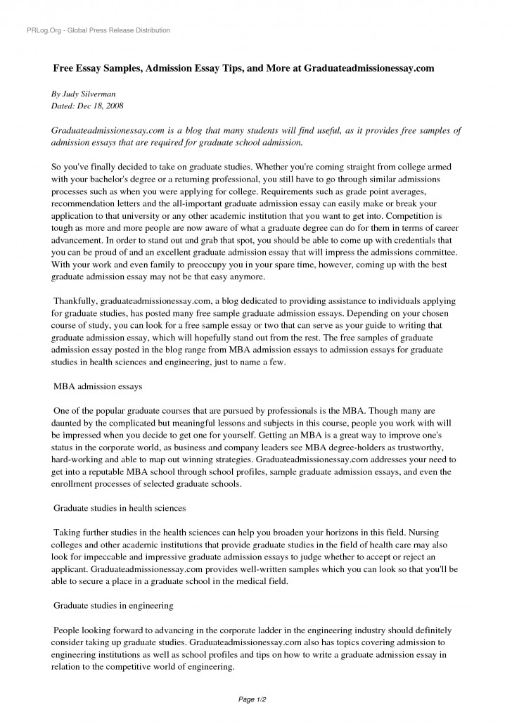 001 Yhn3ns0535 Free Sample Essay For Graduate School Admission Formidable Pdf 728