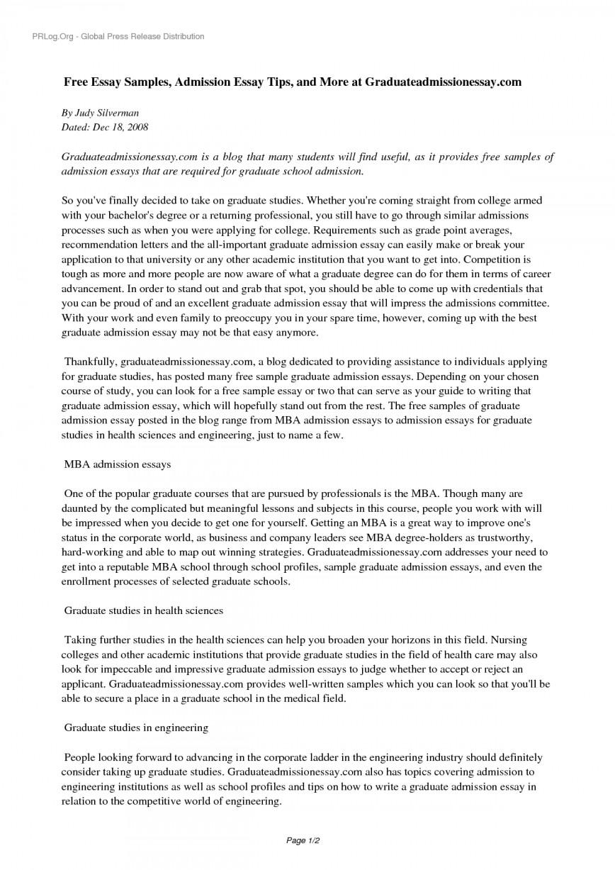 001 Yhn3ns0535 Free Sample Essay For Graduate School Admission Formidable Pdf