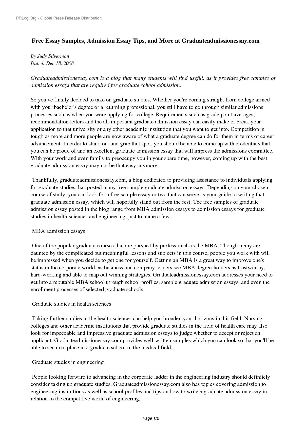 001 Yhn3ns0535 Free Sample Essay For Graduate School Admission Formidable Pdf Full