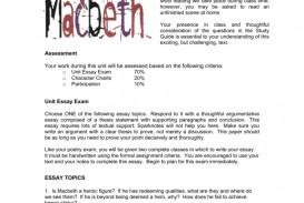 002 008041500 1 Macbeth Essay Topics Surprising Examples Pdf Grade 11 Tragic Hero
