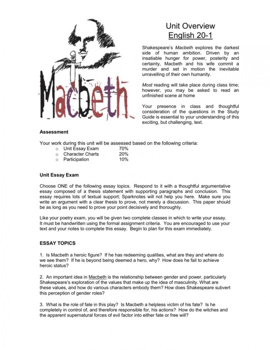 002 008041500 1 Macbeth Essay Topics Surprising Grade 11 Fair Is Foul High School