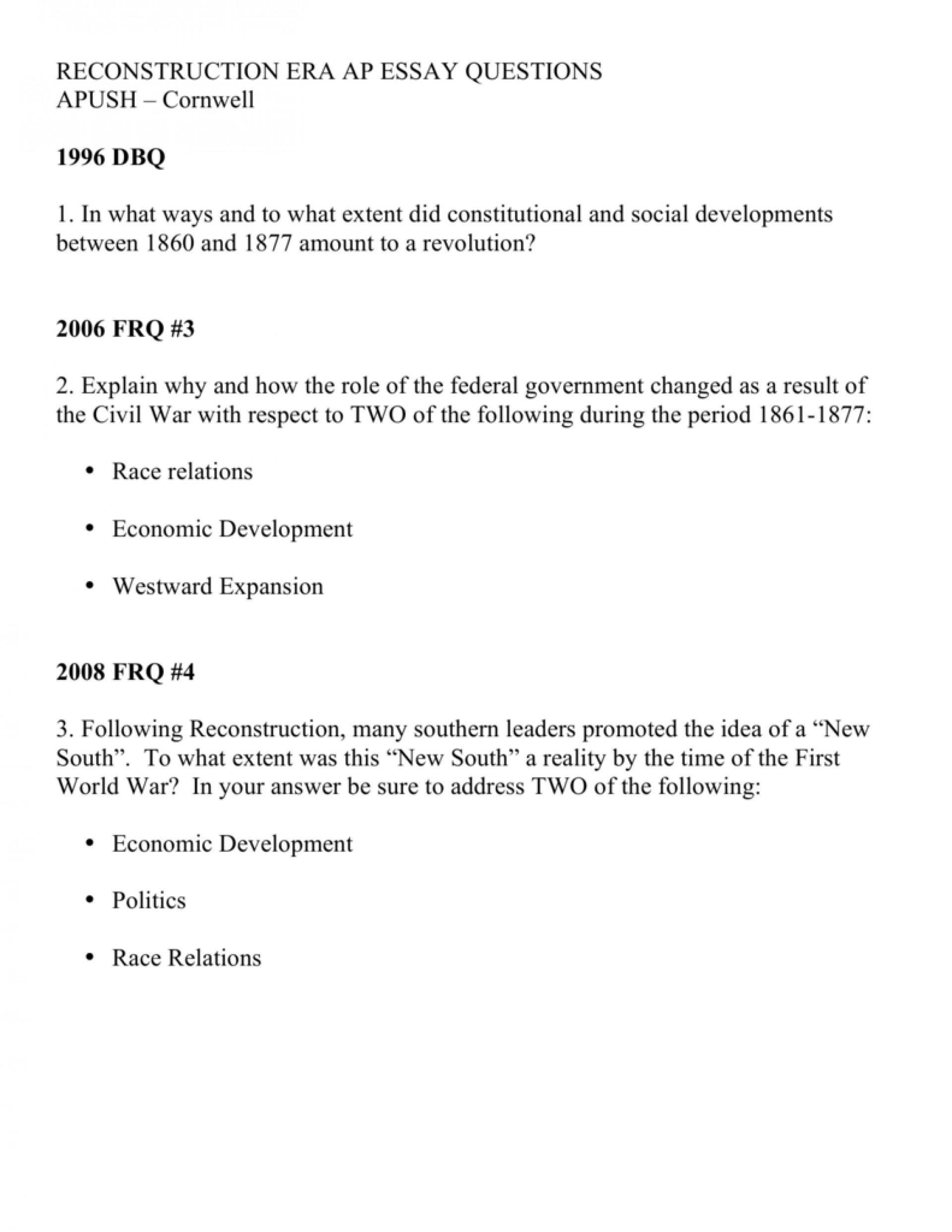 004 History Essay Format Apush Essays Persuasive Paper Organ