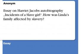 002 319902 0 Essay Example Harriet Remarkable Jacobs Vs Frederick Douglass Topics Analysis