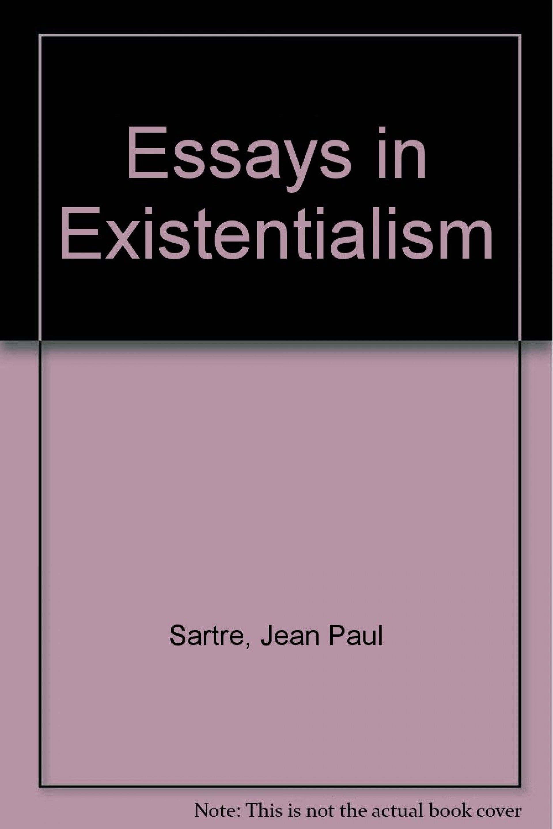 002 61qllswwwgl Essay Example Essays In Outstanding Existentialism Pdf Sartre 1920