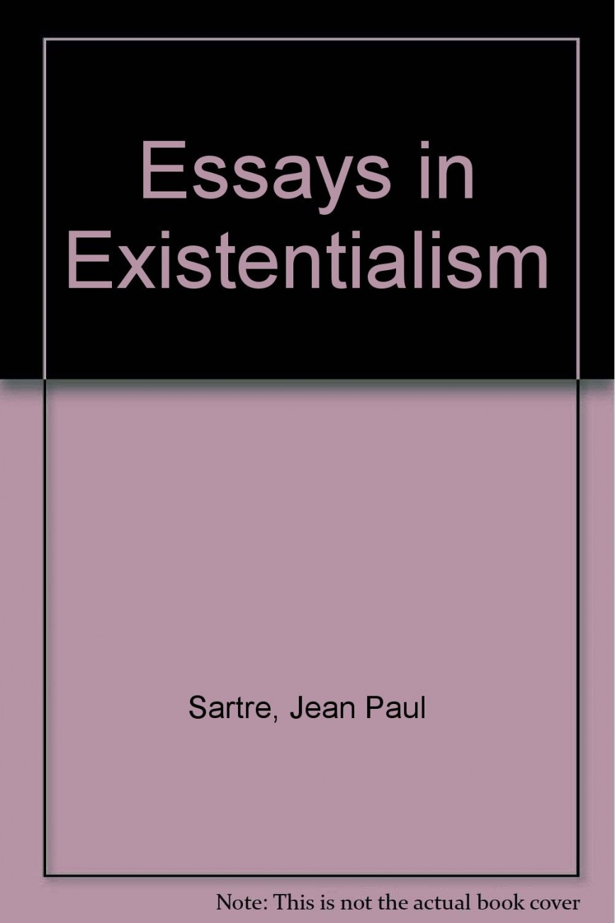 002 61qllswwwgl Essay Example Essays In Outstanding Existentialism Deaf Iii Sartre Pdf