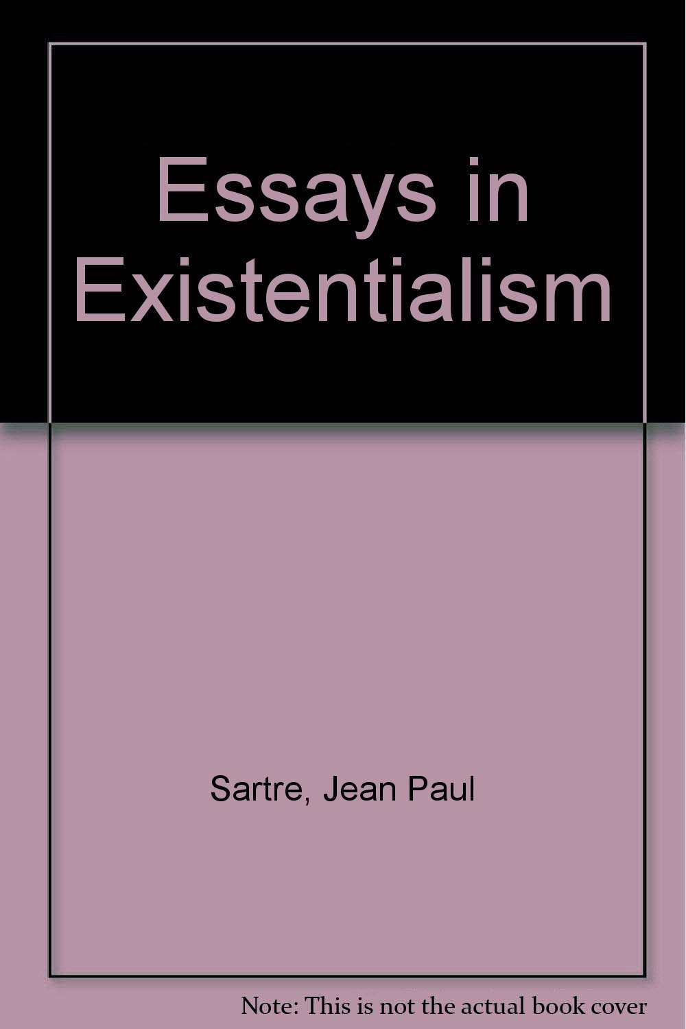 002 61qllswwwgl Essay Example Essays In Outstanding Existentialism Pdf Sartre Full