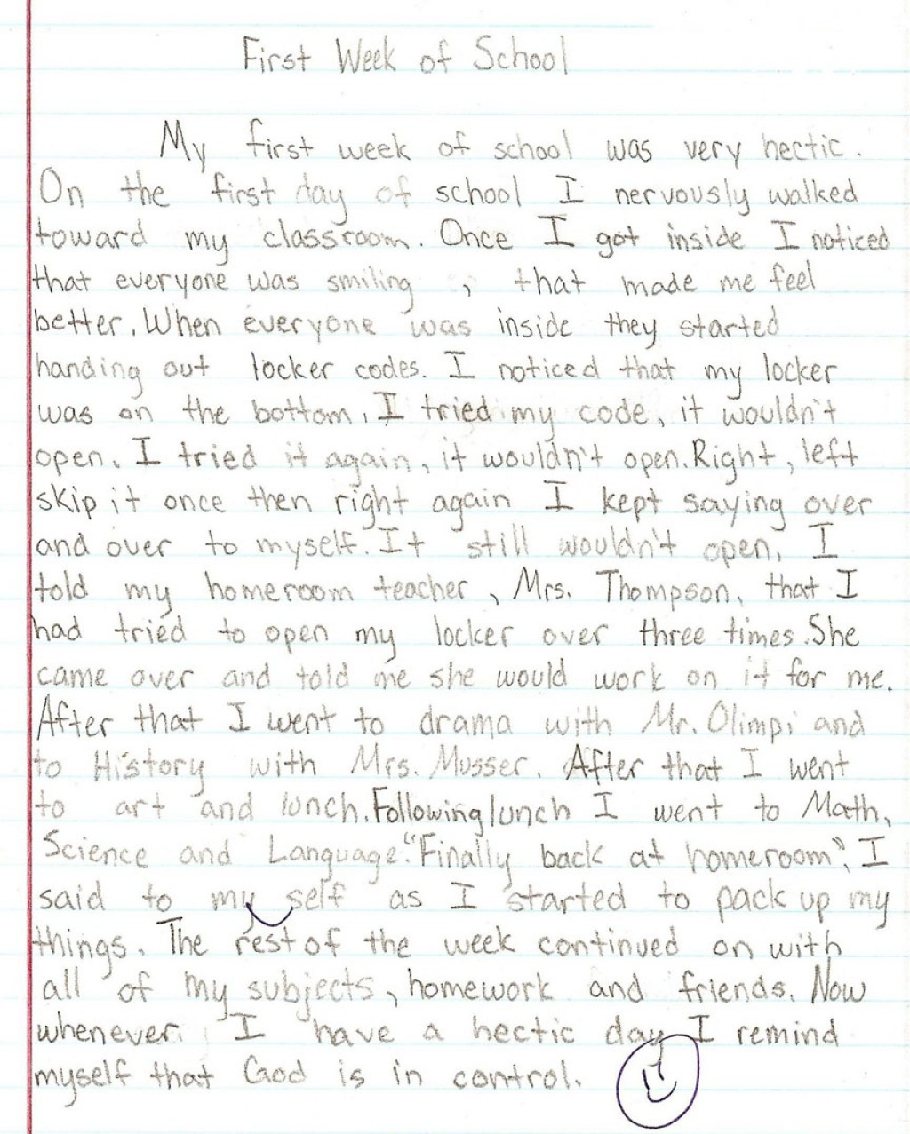 002 6th Grade Essays Sample1a Fantastic Essay Examples Narrative Writing Literary Large