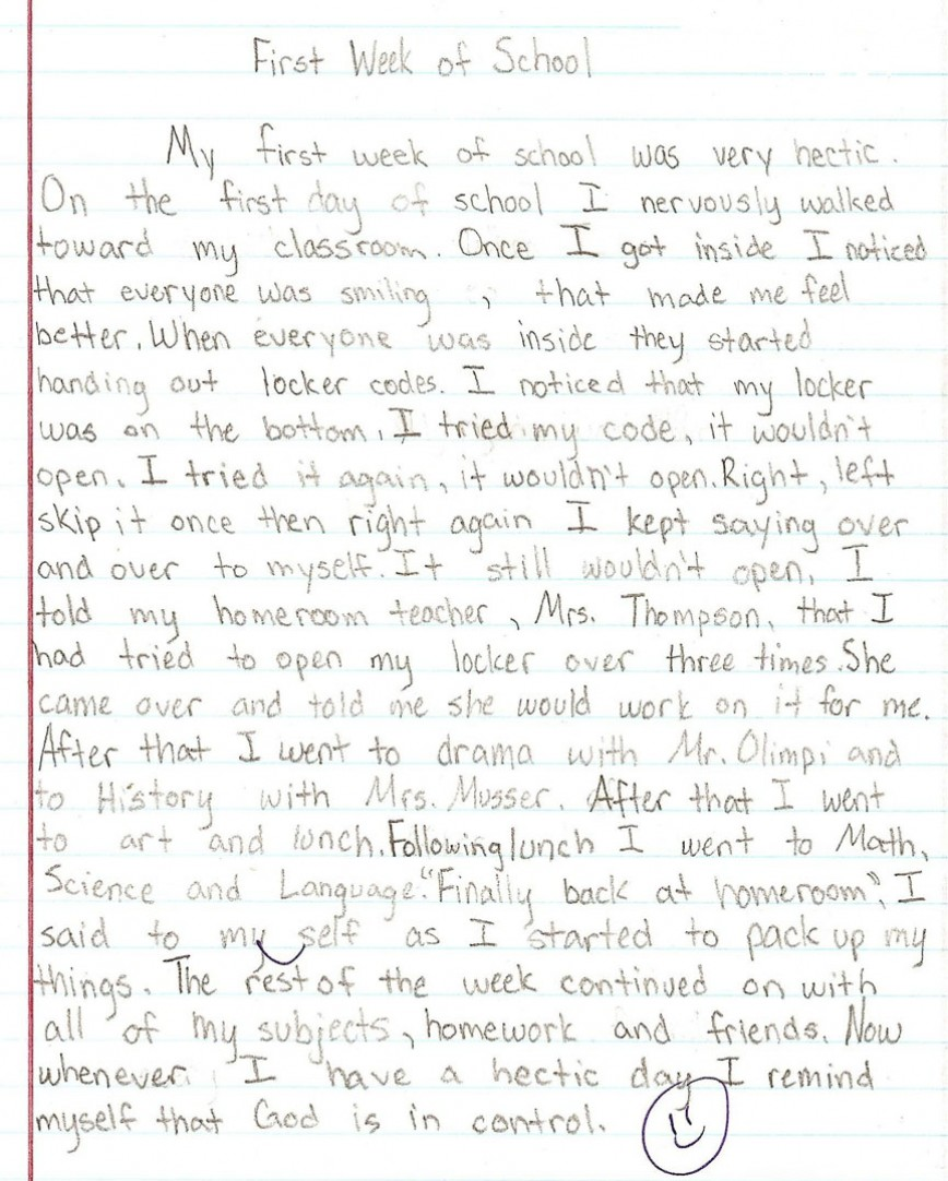 002 6th Grade Essays Sample1a Fantastic Essay Examples Personal Compare And Contrast Argumentative