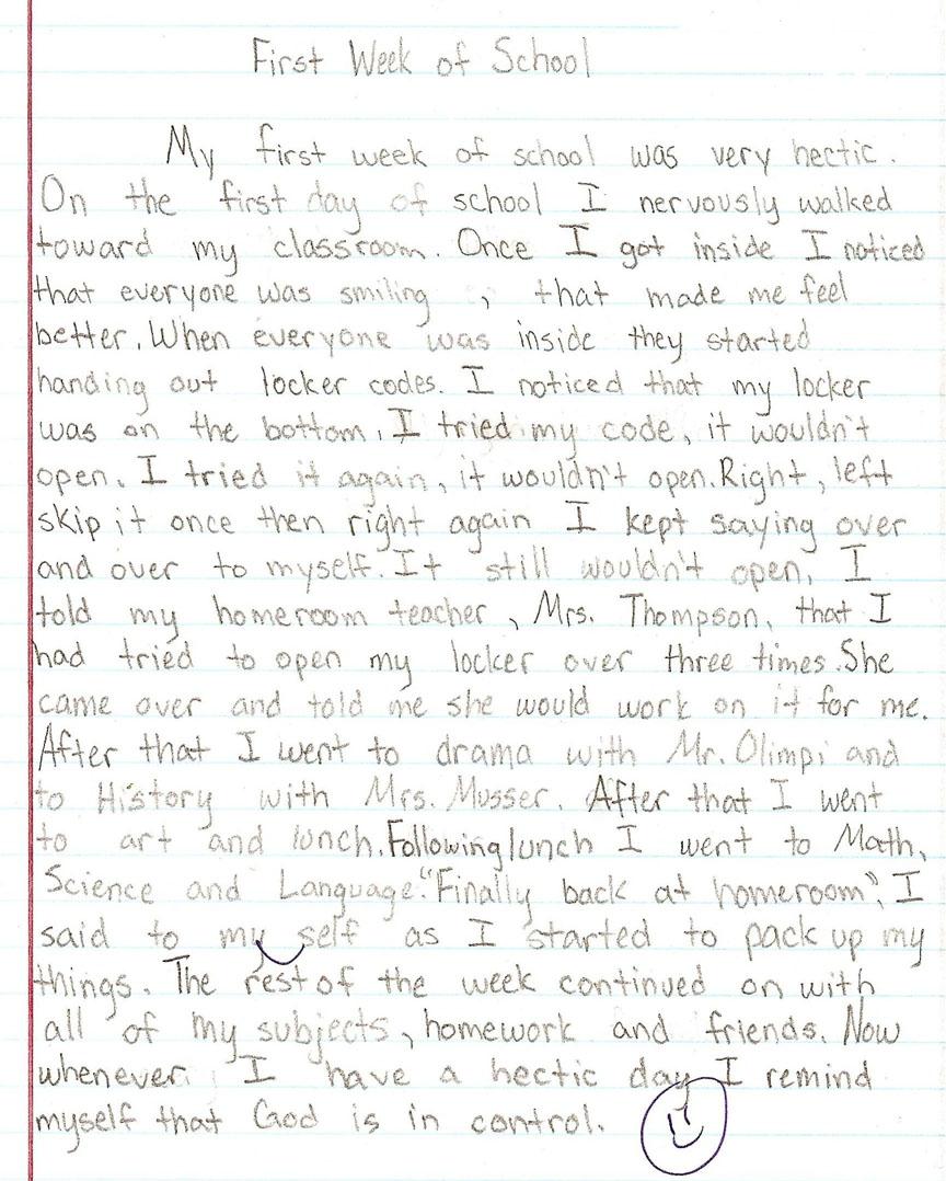 002 6th Grade Essays Sample1a Fantastic Essay Examples Informative Personal Full
