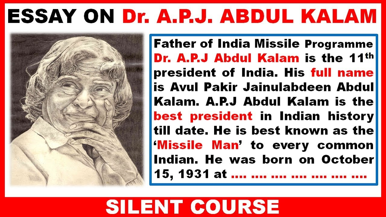 002 Abdul Kalam My Inspiration Essay Example Exceptional In English 400 Words Hindi Full