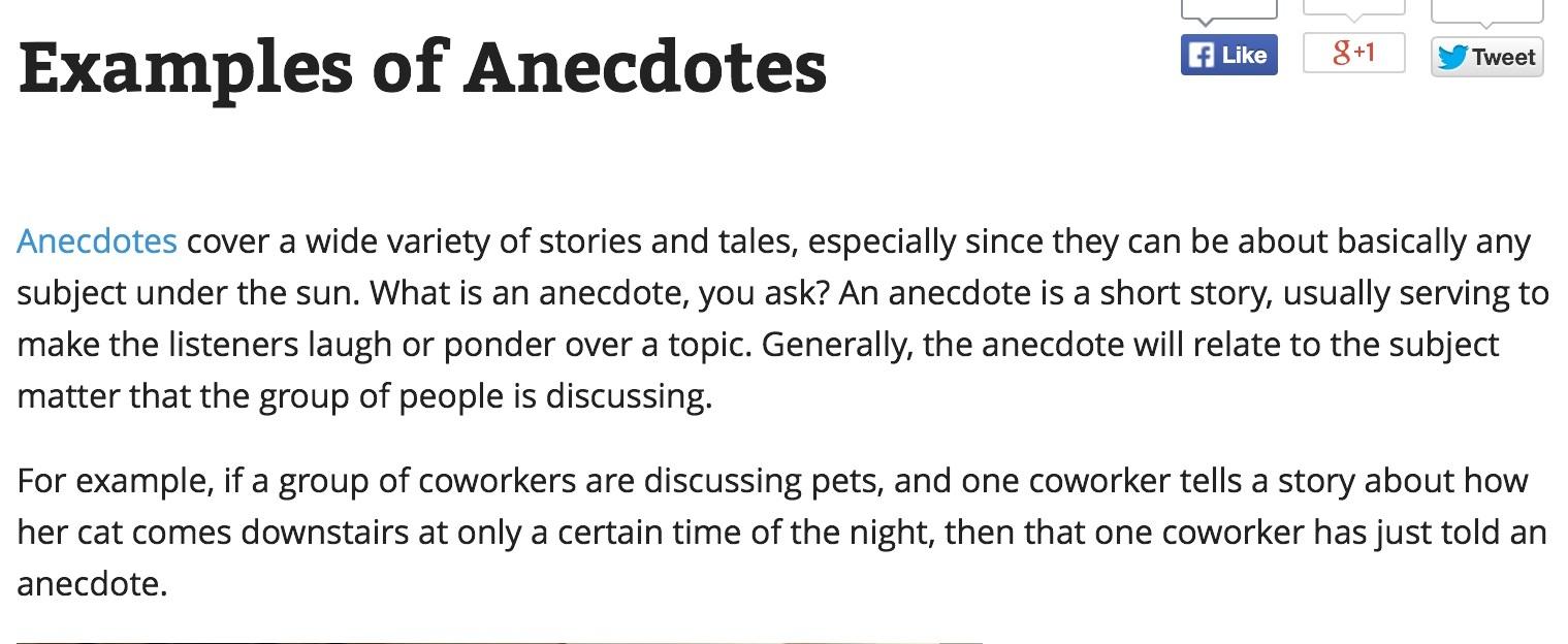 002 Anecdote Sample Essay Image