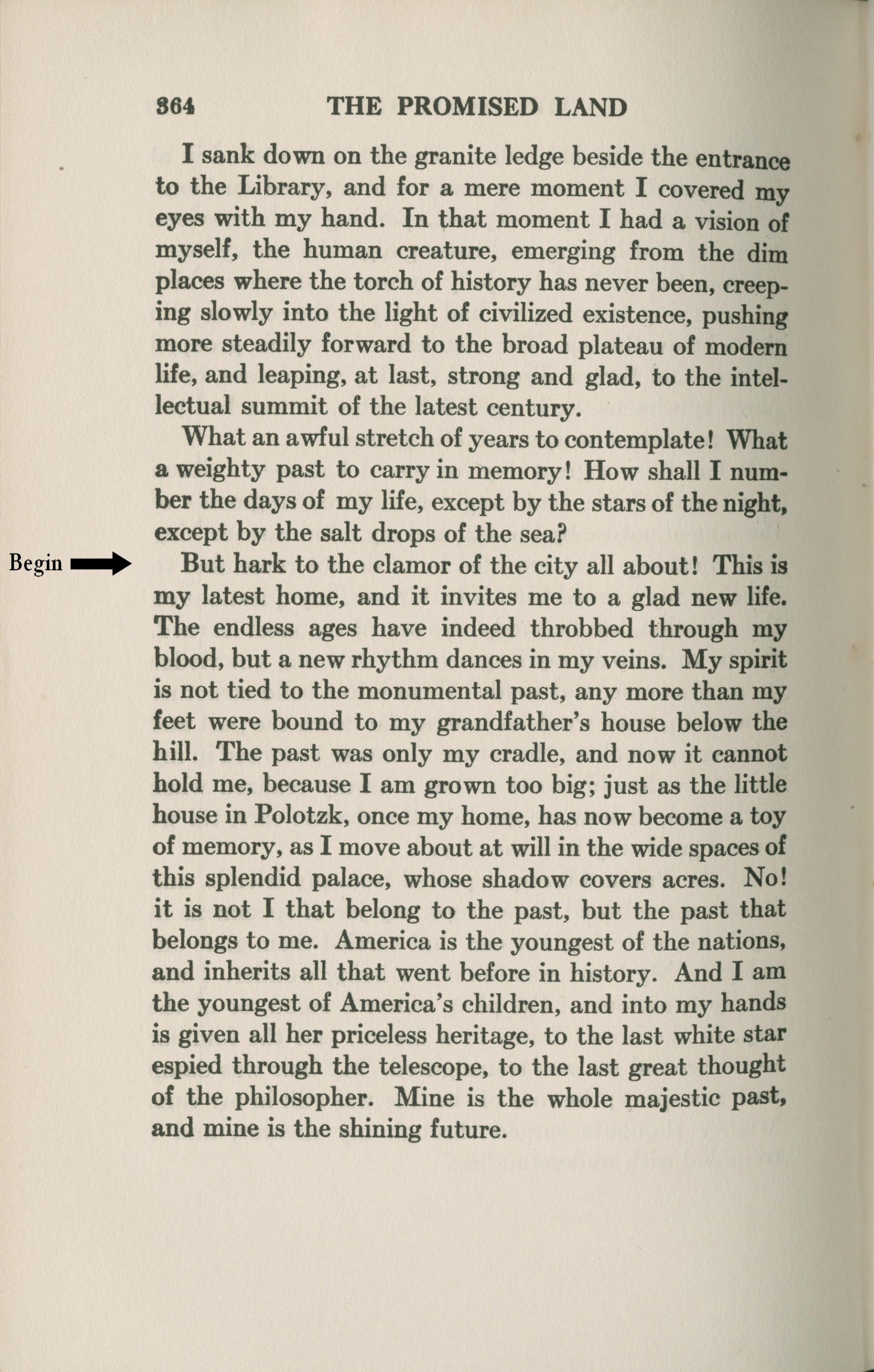 002 Antin Promised Land Conclusion  P364 Mod Essay Example On Fearsome Immigration1920
