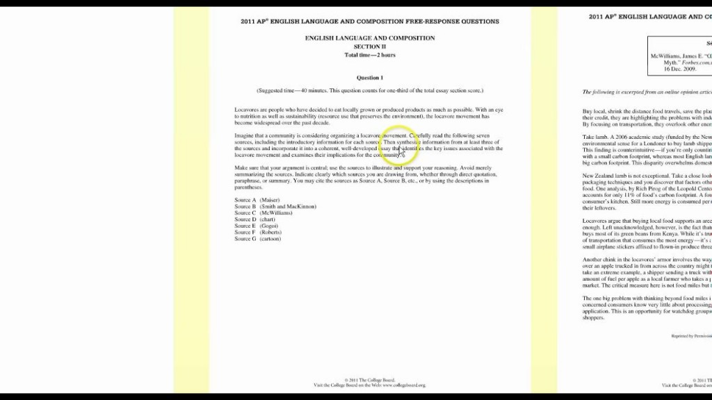 002 Ap Language Synthesis Essay Maxresdefault Amazing Ppt And Composition Prompt 2011 Tips Large