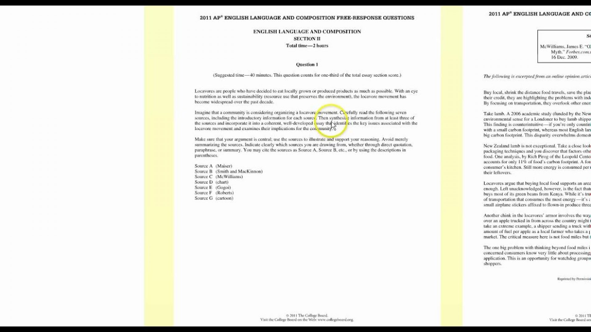 002 Ap Language Synthesis Essay Maxresdefault Amazing Ppt And Composition Prompt 2011 Tips 1920