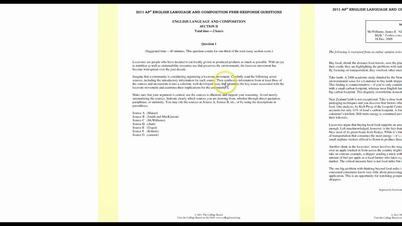 002 Ap Language Synthesis Essay Maxresdefault Amazing Ppt And Composition Prompt 2011 Tips Full