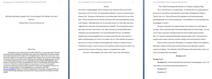 002 Apa Format Essay Template Preview Stupendous Short Sample Example Title Page 6th Edition 728
