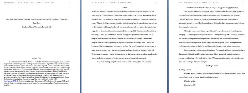 002 Apa Format Essay Template Preview Stupendous Example 6th Edition Citation Narrative