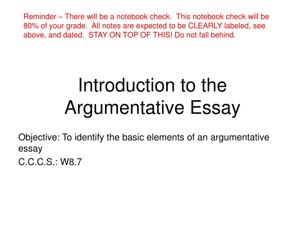 002 Argumentative Essay Powerpoint Example Introduction To The Frightening Presentation Slides For Middle School Full
