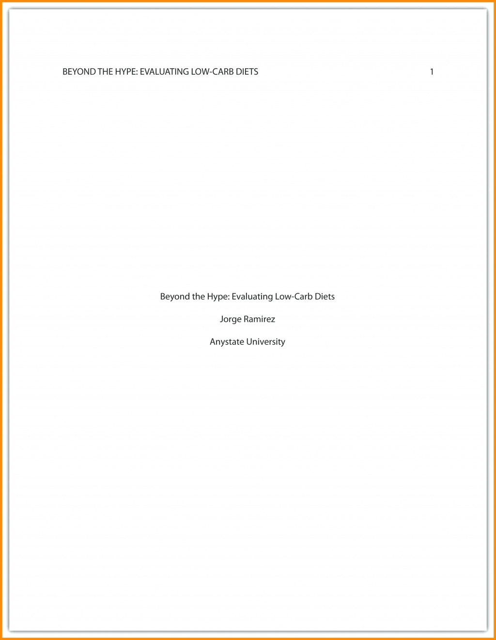 002 Asa Cover Page Template Style Essay Marvelous Example Apa Research Proposal Sample Large