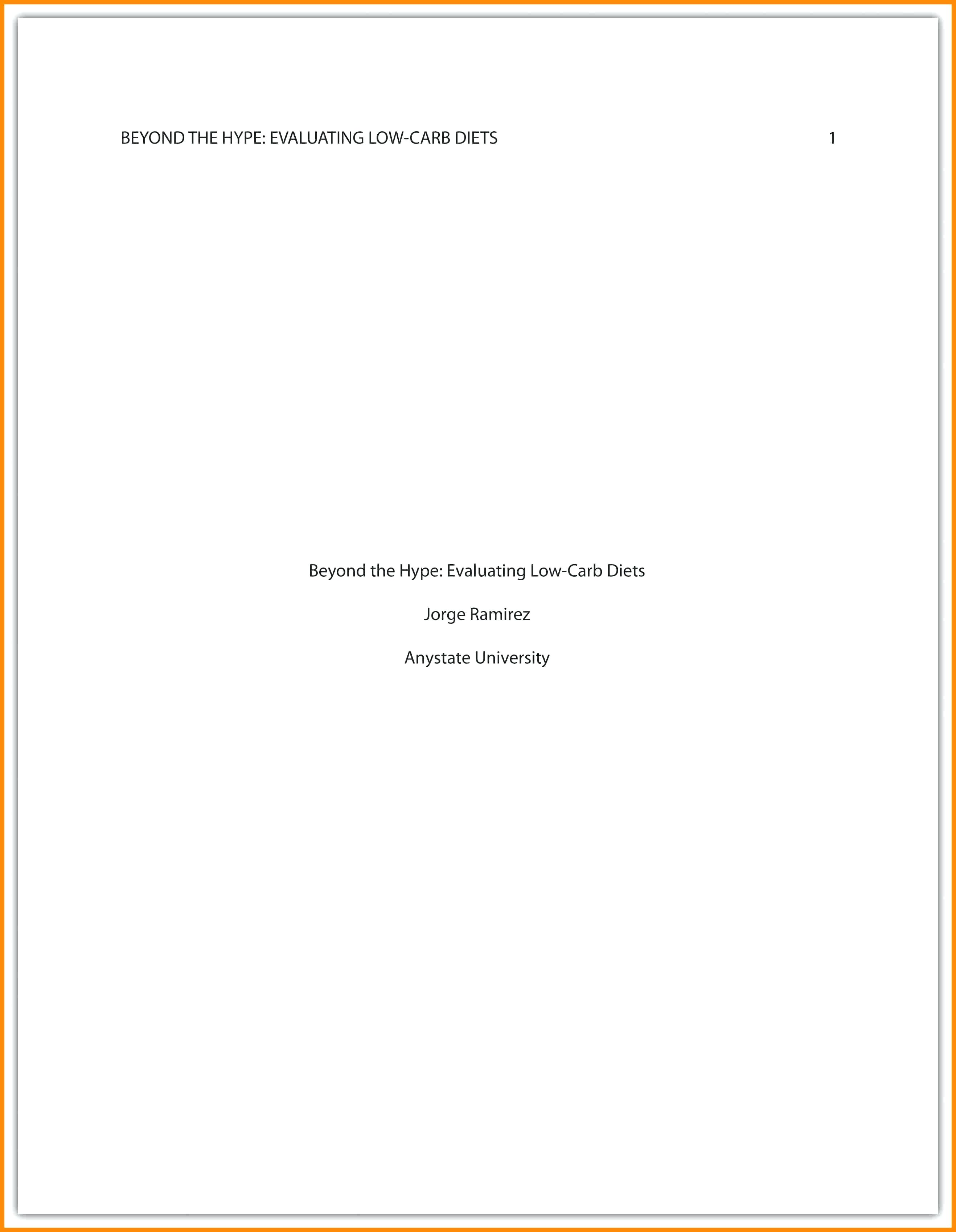002 Asa Cover Page Template Style Essay Marvelous Example Apa Research Proposal Sample Full