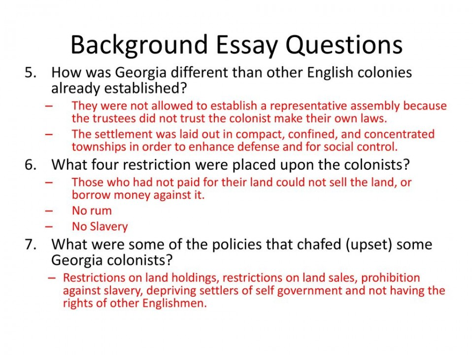 002 Background Essay Ppt Download Questions Answer Key Backgroundessayques Pearl Harbor Electoral College Declaration Of Independence Salem Mini Q Causes Ww1 Harriet Tubman Staggering Answers Renaissance Constitution 960