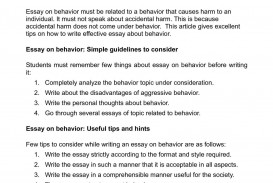 002 Behavior Essay Example Astounding Writing Prompts Middle School