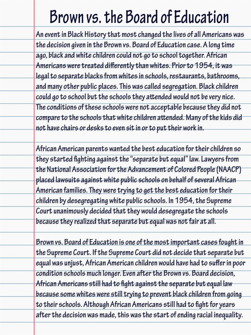 002 Bhessay Brown Vs Board Of Education Essay Magnificent Conclusion Term Paper Thematic Large