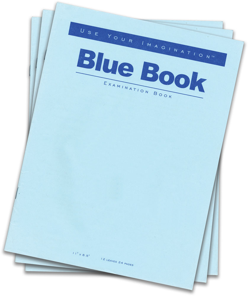 002 Books Blue Book Essay Magnificent Example Little Writing Full