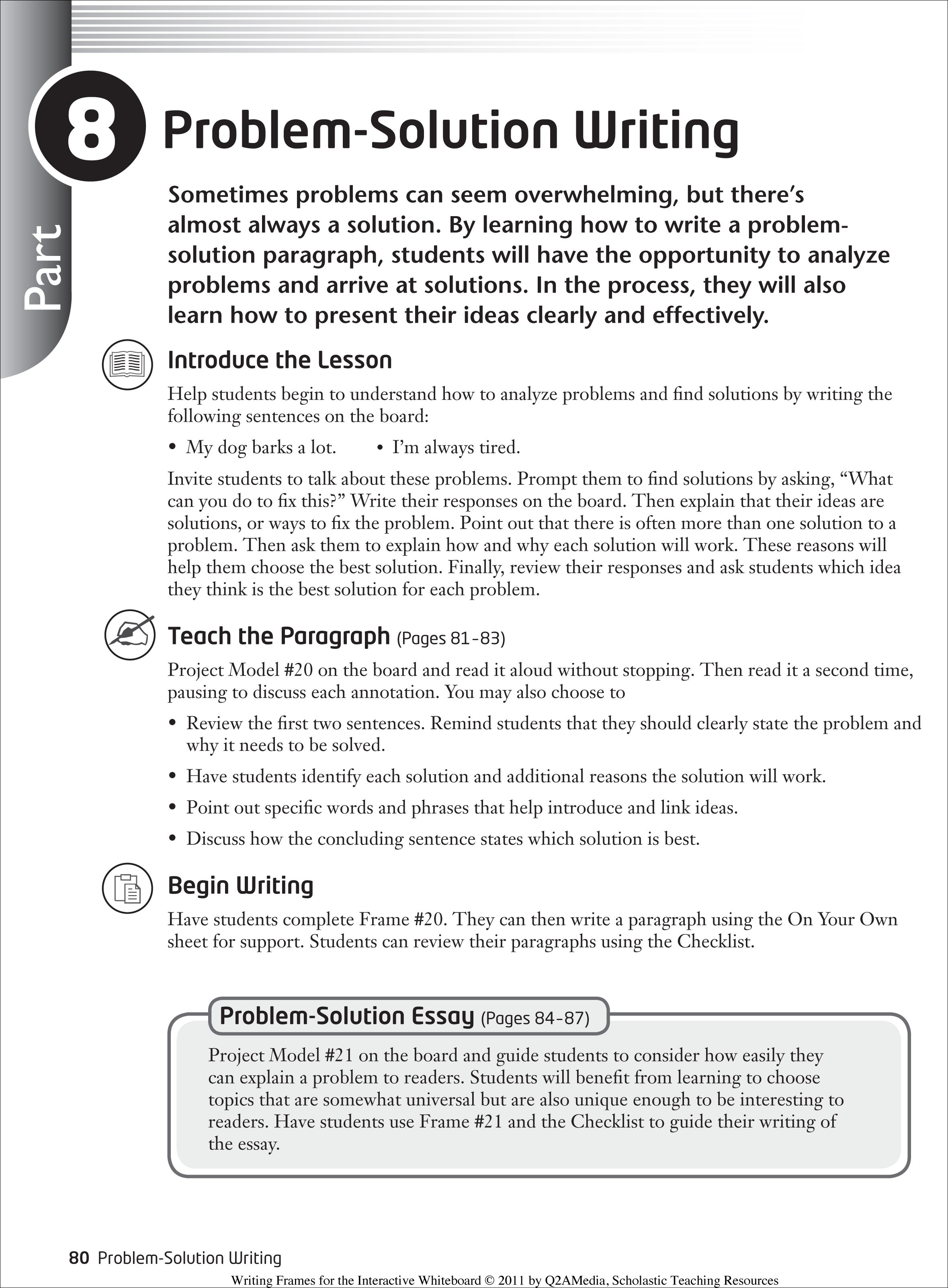 002 Brilliant Ideas Of Epiphany Essay Problem Solving Example
