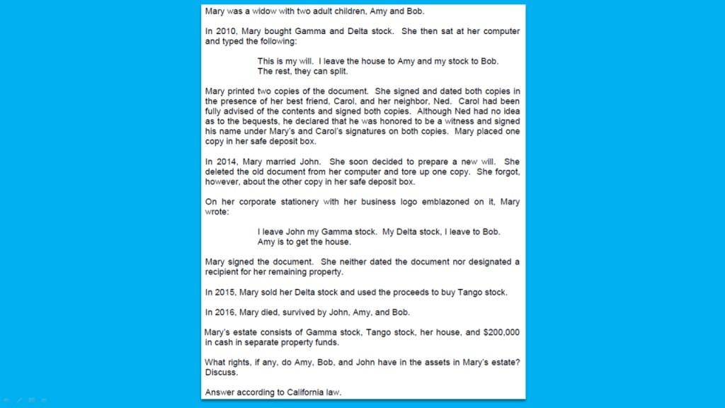 002 California Bar Essays Fizo8ngptrkpbhjfw6id Firstframe Essay Marvelous July 2017 Exam Graded February 2018 Large