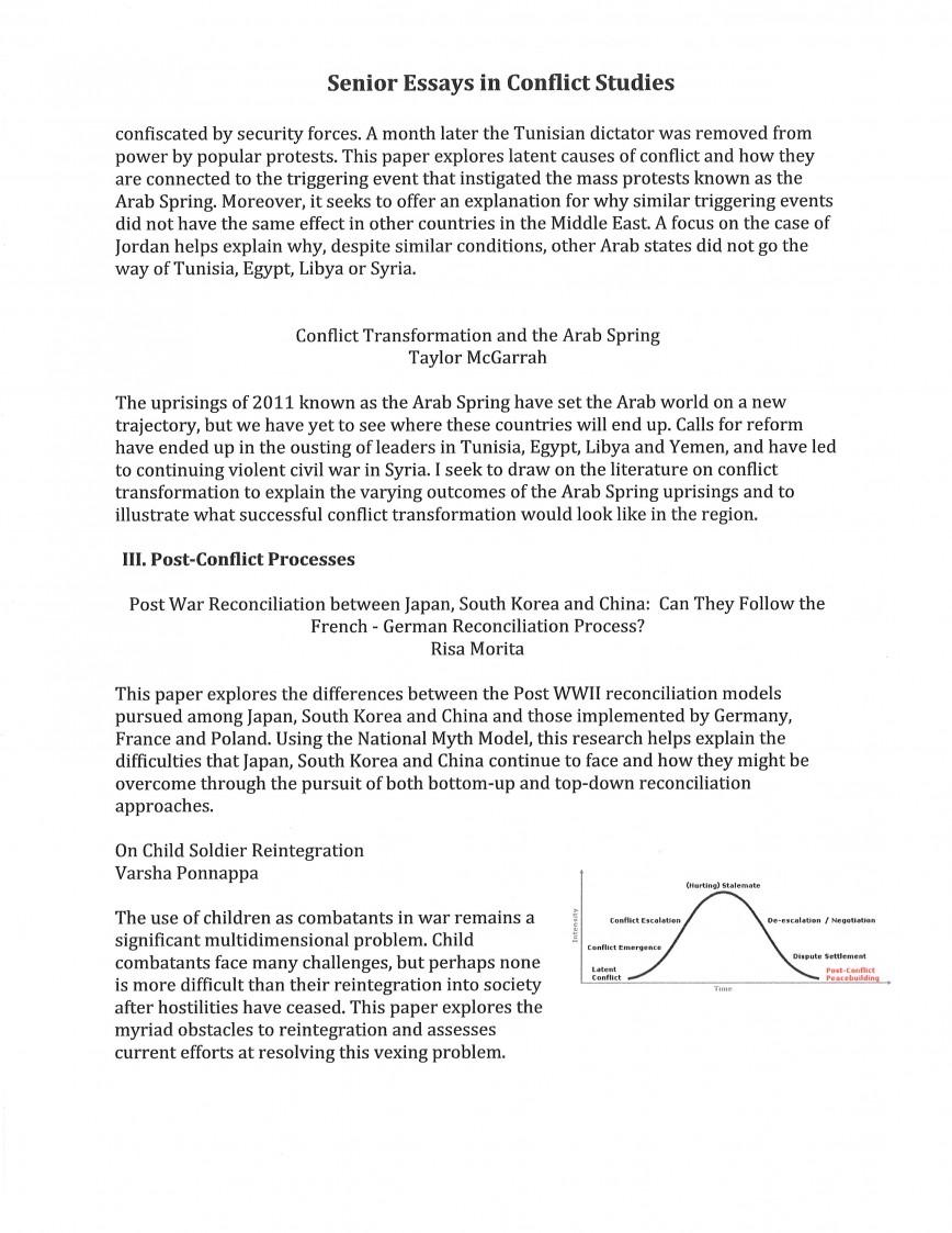 002 Cft Sensem Conflict Essay Stupendous Thesis Questions Management Conclusion