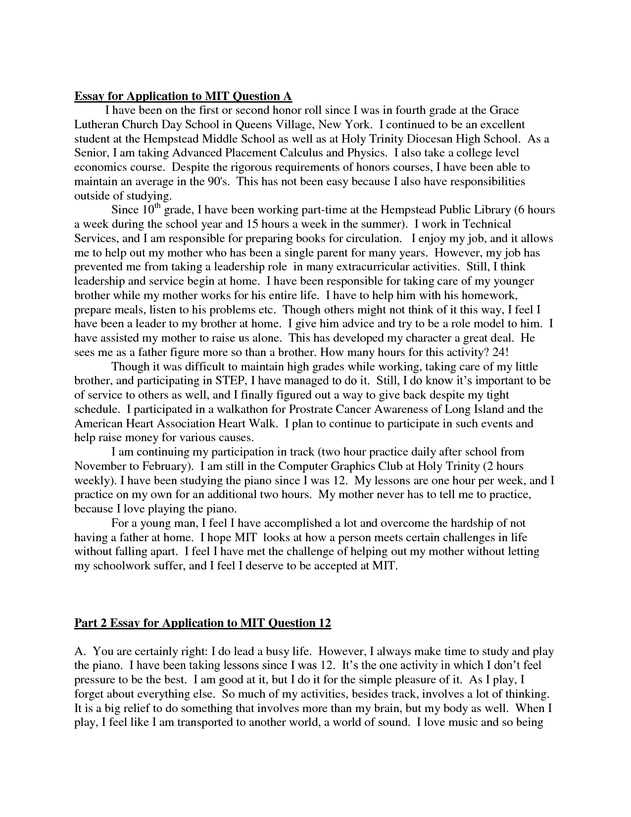 002 College Admission Essay Example Rare Prompts Format Examples Ivy League Full
