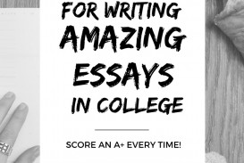 002 College Essay Writing Tips Example Imposing Video Application