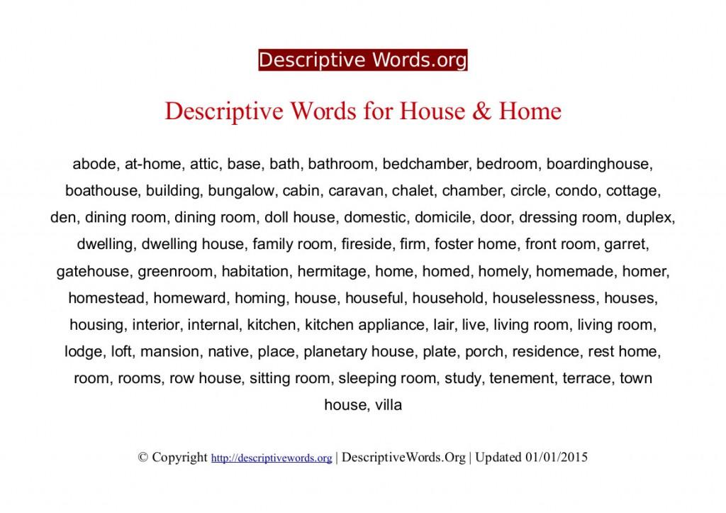 002 Descriptivewords For Home Descriptive Essay Beautiful Describing Sweet Ideal Large