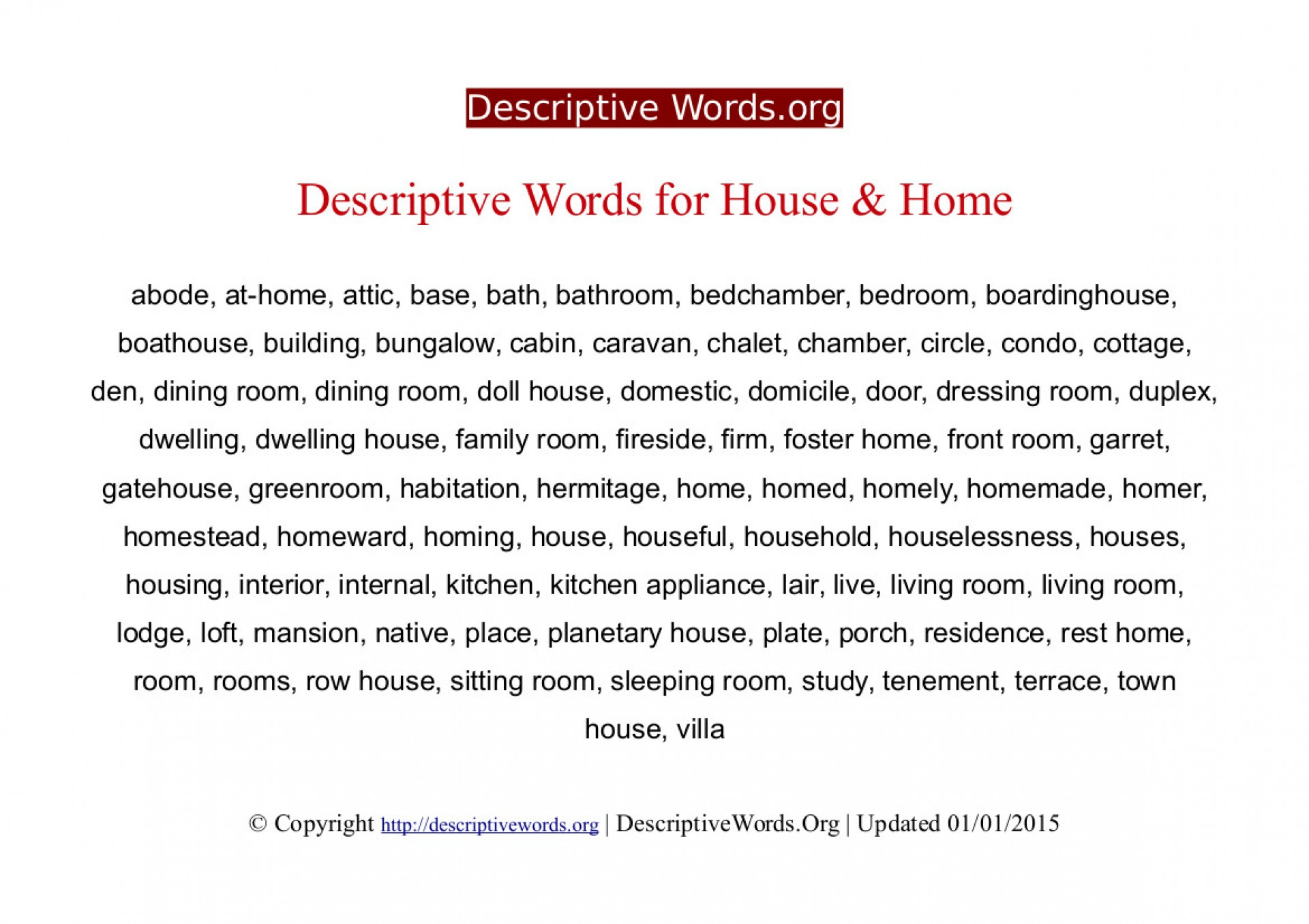 002 Descriptivewords For Home Descriptive Essay Beautiful Describing Sweet Ideal 1920