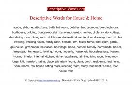 002 Descriptivewords For Home Descriptive Essay Beautiful Describing Sweet Ideal