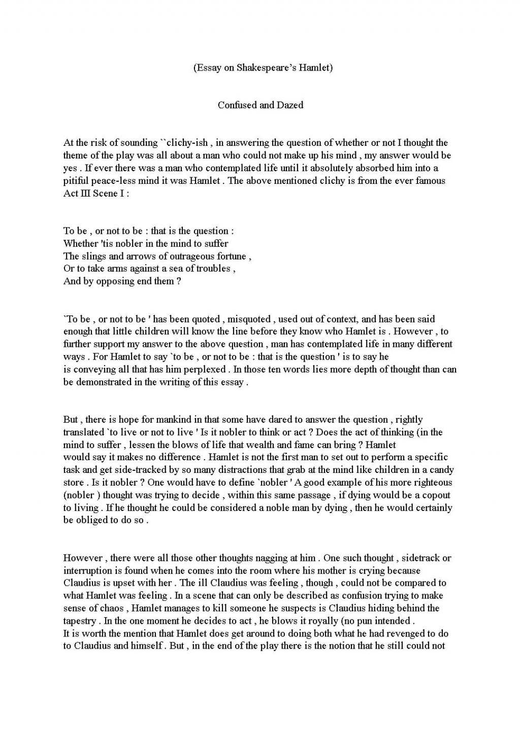 002 Drama Essay Sample Example Unbelievable Poetry Comparative Analysis Comparison Large