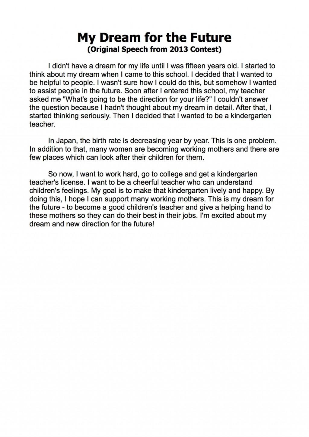 002 Dream Essay Unbelievable Lucid Conclusion College Examples Introduction Large