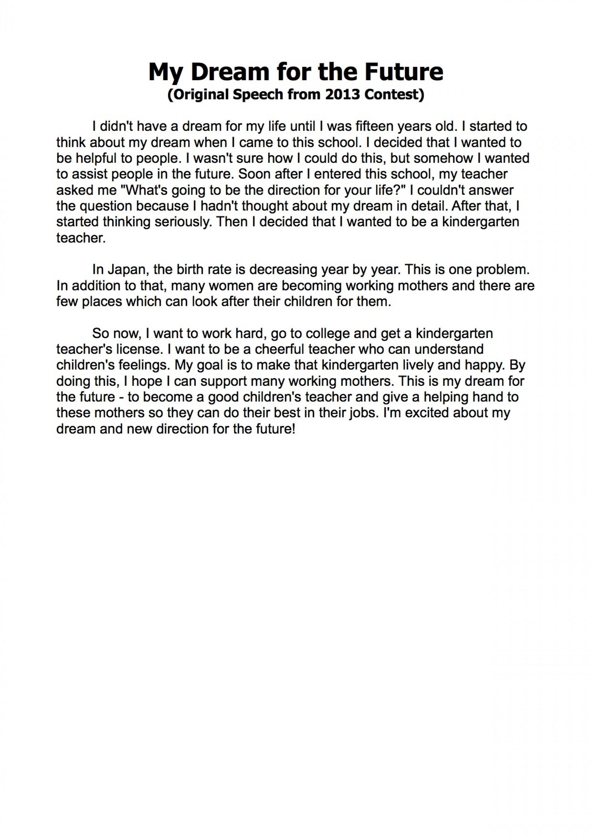002 Dream Essay Unbelievable Lucid Conclusion College Examples Introduction 1920