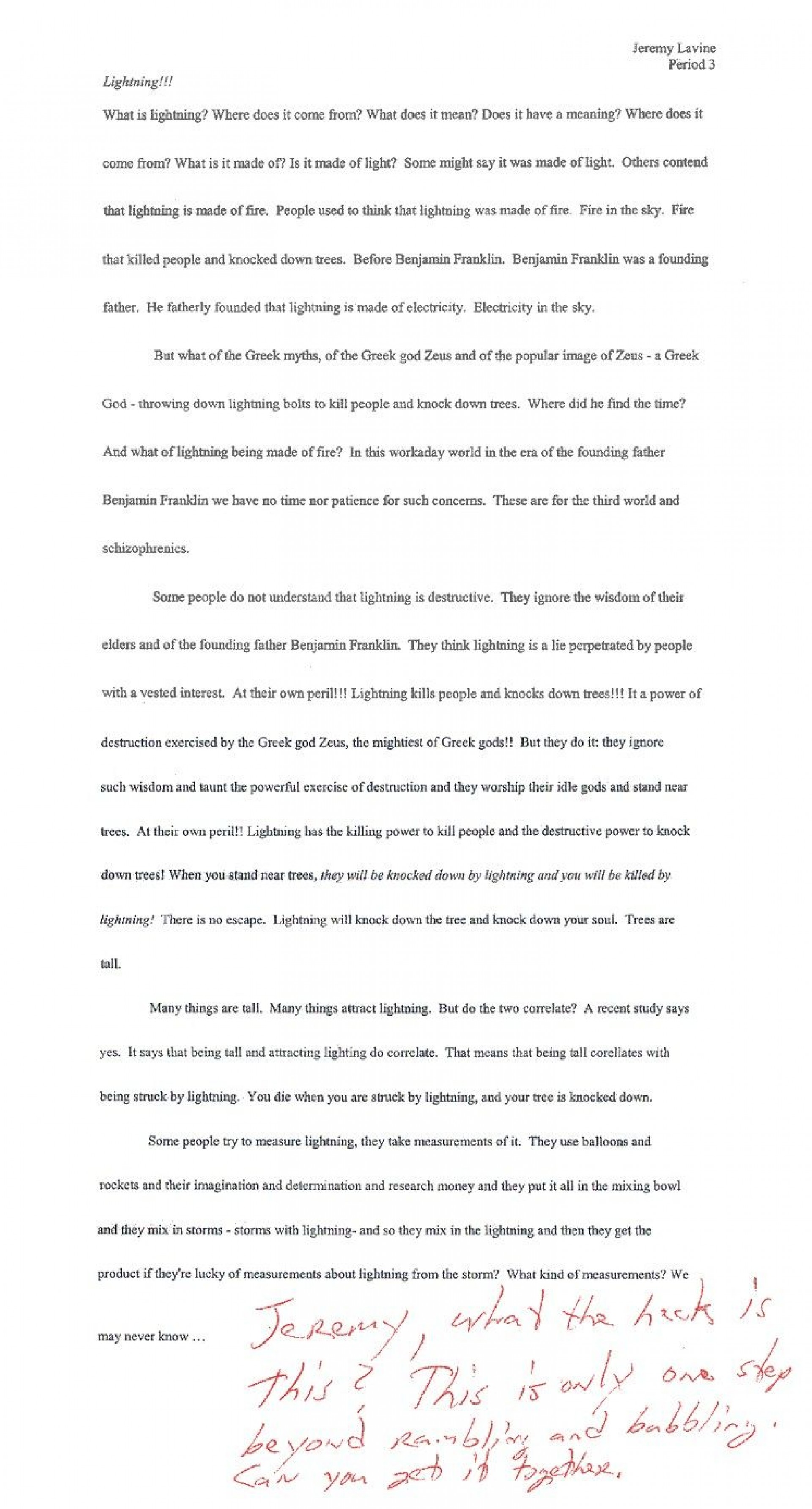 002 Essay  Lightning Funny Essays Stupendous Topics Written By Students For College1920