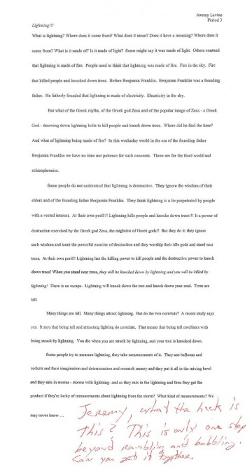 002 Essay  Lightning Funny Essays Stupendous Topics Written By Students For College360
